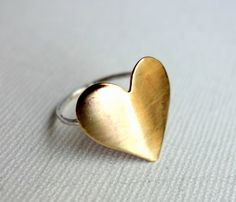 Brass Heart Ring My husband made me one 40 yrs ago when we were dating :) Memories!!!!