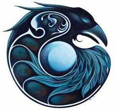 Raven Mandala II by Nathalie Parenteau.