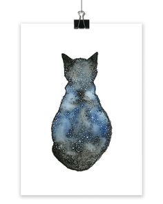 // Small Astro Cat // My love for animals is strong. I have been experimenting with galaxies and all things astro to create some unique animal