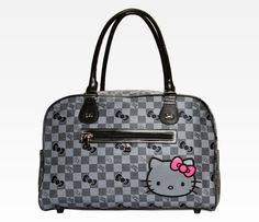Hello Kitty Overnight Bag: Grid in  Bags at Sanrio