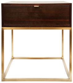 todd hase - duval side table with drawer - custom order. I want to try and DIY this! So gorgeous!