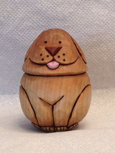 Hand Carved Little Puppy