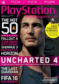 Official #PlayStation Magazine 112. #Uncharted 4.