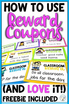 {Freebie} Are you thinking about implementing classroom reward coupons for your behavior management plan? Say good-bye to spending money on treasure boxes and hello fun! Students of all ages love this positive reinforcement because they are given a choic Behavior Coupons, Classroom Reward Coupons, Classroom Economy, Classroom Behavior, School Classroom, Classroom Management, Behavior Incentives, Behavior Charts, Class Management