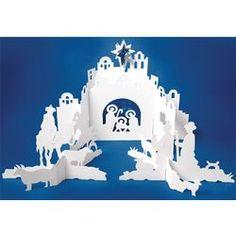 Cut paper nativity