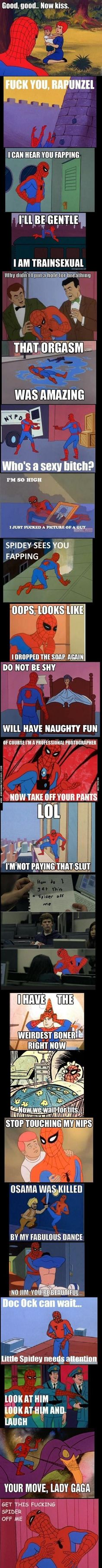 When spidey has been influenced by deadpool