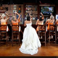 Wedding photo ideas - All of us taking a shot! Love it!