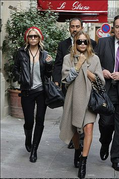 The Brunette Shake: Mary Kate and Ashley Olsen: Style Inspiration of the Week #fashion #streetstyle #outfit