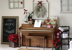 top of piano for Christmas. Gives me an idea about a chair there too for the back door Christmas Music, Christmas Love, Outdoor Christmas, Christmas Holidays, Christmas Ideas, Christmas 2019, Winter Holidays, Happy Holidays, Christmas Crafts
