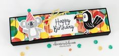 Bonanza Buddies Gift Box with Chic n Scratch, Stampin' Up! Demonstrator Angie Juda My project for you today is this Bonanza Buddies Gift Box that will Foam Crafts, Paper Crafts, Paper Art, Origami Templates, Box Templates, Print Box, Kids Birthday Cards, Craft Show Ideas, Toy Craft