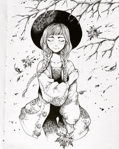 7 tips for smashing Inktober 2018 - - Inktober How to stay focused during the year's biggest drawing challenge. Ink Pen Drawings, Realistic Drawings, Badass Drawings, Drawing Challenge, Art Challenge, Inktober, Ink Illustrations, Illustration Art, Witch Drawing