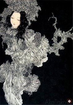 Takato Yamamoto was born in Akita prefecture (Japan) in After graduating from the painting department of the Tokyo Zokei University, he experimented with the Ukiyo-e Pop style. Illustrations, Illustration Art, Ero Guro, Oriental, Emo Art, Art Chinois, Japanese Artwork, Art Japonais, Arte Horror