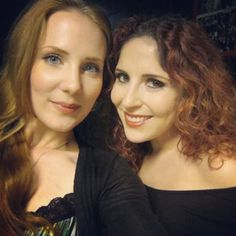 Two wonderful singers together! Simone Simons of Epica and Marcela Bovio from Stream Of Passion!