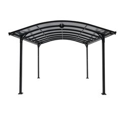 Royal Garden Corporation 12 ft. W x 16 ft. D x 8 ft. H Steel and Aluminum Carport with Light Bar