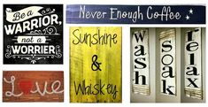 Words don't always have to be spoken to make the biggest impact.Inspire yourself, as well as your friends and family, by displaying the sayings you live by around your home. Don't just say 'em, hang 'em with these decorative word signs.