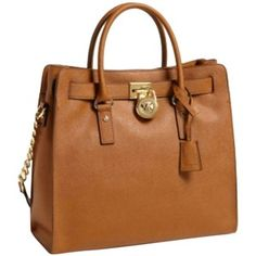 Pre-owned Michael Kors Hamilton Large Saffiano Leather Luggage Tote Bag