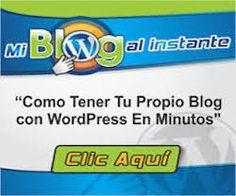 Como Tener Tu Propio Blog con WordPress en minutos http://miblogalinstante.com/?ap_id=jorgeanibal