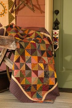 Broken Dishes Simple Graces: Charming Quilts and Companion Projects (That Patchwork Place): Kim Diehl Fall Quilts, Scrappy Quilts, Flannel Quilts, Amish Quilts, Star Quilts, Cotton Quilts, Primitive Quilts, Rustic Quilts, Pinwheel Quilt
