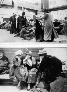 Titanic survivors on rescue ship, the Carpathia. (Topham/Topham Picturepoint/PA Images