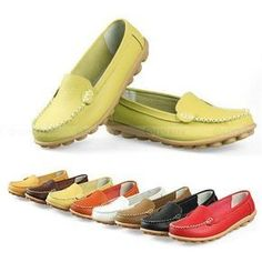 Women Casual Leather Shoe Low to help Ballet Flats Oxford Moccasins Shoes Loafer in Clothing, Shoes & Accessories, Women's Shoes, Flats & Oxfords   eBay