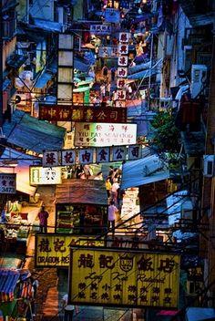 Wet market in Hong Kong Central