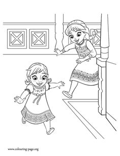 The sisters Anna and Elsa love to play together. How about to print and color this amazing Disney Frozen movie coloring sheet? Enjoy!