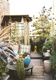 narrow patio/terrace