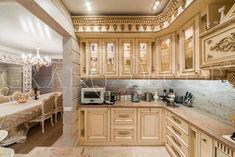 Деревянная кухня в стиле барокко | grandecor.ru