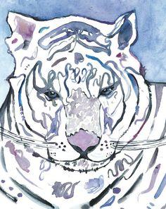 Tigre-blanc-aquarelle-print-illustration