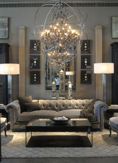 29 Beautiful Black and Silver Living Room Ideas to Inspire black-and-silver-living-rooms-4-739x1024
