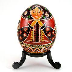 Babushka - Beautiful Nesting Doll Design - Real Handmade Chicken Egg