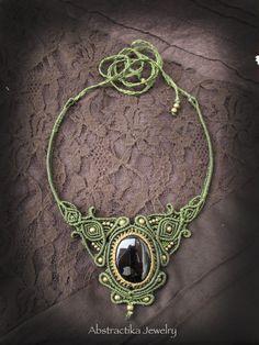 Gemstone necklace.