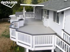 Our lowest maintenance deck option, and another way to keep your ground story deck or patio space dry.