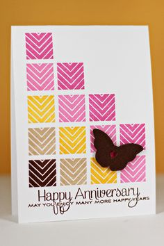 Happy Anniversary Card by Erin Lincoln for Papertrey Ink (January 2013)