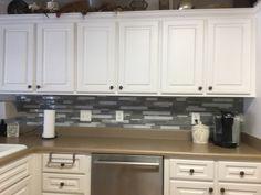 mosaic tile backsplash, costco 5 square feet for $23.99 | kitchen