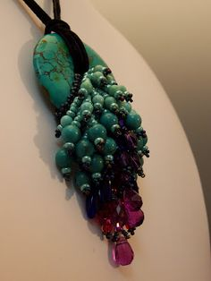 Donna's Peacock Tail by Haute Ice Beadwork