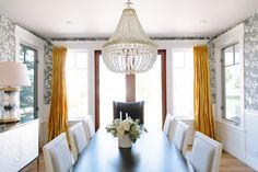 A lot of homes these days don't have formal dining rooms, so when they do. go BIG. Furniture Layout, Custom Furniture, Dining Room Design, Dining Rooms, Dining Area, Studio Mcgee, Residential Interior Design, Side Chairs, Decorating Your Home