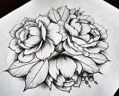Анна #inkbe, #blackwork, #dotwork, #linework, #flower, #sketch