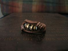 Steampunk wire wrap ring by TheClockworkArtifice on Etsy, $18.00