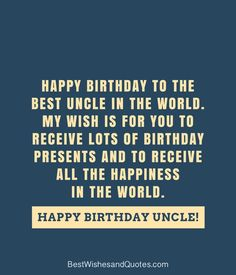 Have A Wonderful Day Happy Birthday Card For Uncle A Three Tiered