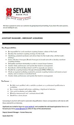 Manager Administration Assistant Manager Administration