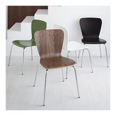 This Walnut Side Chair makes me happy!  The hourglass curves and the wood finish...  Love.