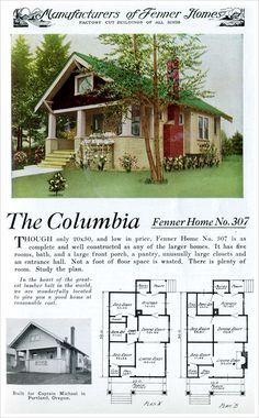 Columbia 1921 READY BUILT HOUSE COMPANY BY FENNER MANUFACTURING