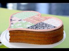 Como hacer modelado y pintar en una torta de cookies con forma de corazón