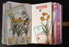 annes papercreations: Graphic 45 Time to Flourish Journal yearbook part 2 January - May