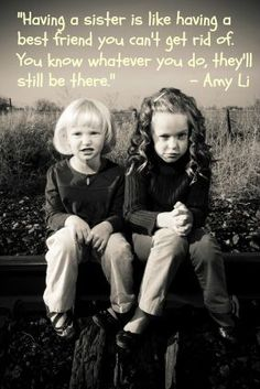August is Sister Day! 12 Super Sweet Quotes About Sisters for Sisters Day Sister Day, Love My Sister, To My Daughter, Daughters, Lil Sis, Baby Sister, Father Daughter, Soul Sisters, Little Sisters