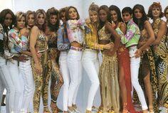 The multi million dollar centrefold - Naomi, Claudia, Helena, Cindy, Carla, Linda...the era of the Supermodel.