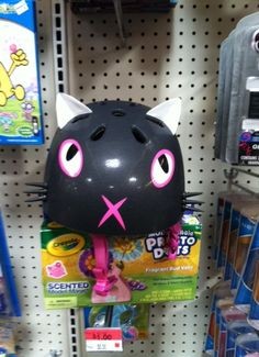 Kitty cat bike helmet in the clearance section at Wal-mart.