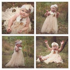 rustic champagne flower girls dress flower girl dresses tutu