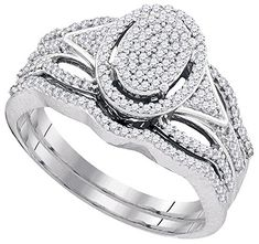 0.40CTW DIAMOND MIRO-PAVE BRIDAL SET
